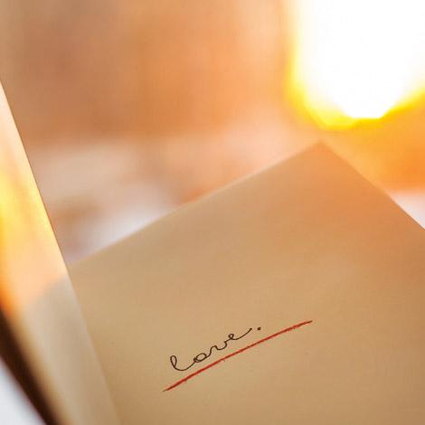 Love in einem Buch.